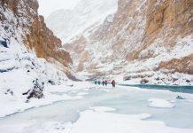 Chadar journey – an undertaking on frozen waterway