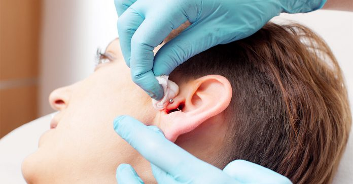 Getting ears safely pierced
