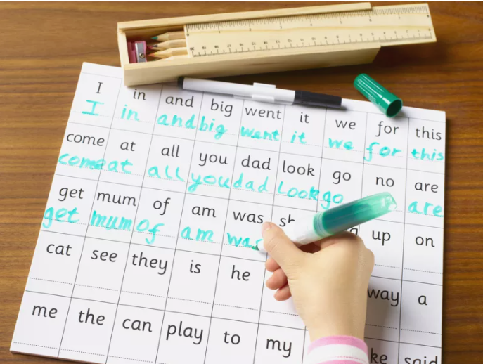 How to teach dictation words to kids.